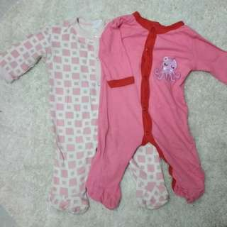 Preloved Baby girl sleepsuit