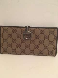 Gucci Check book wallet