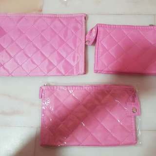 Pink Cosmetics / Makeup Pouch