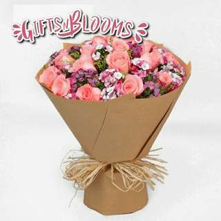 Fresh Flower Bouquet Surprise for Special Anniversary Birthday Gift V104 - DINRS