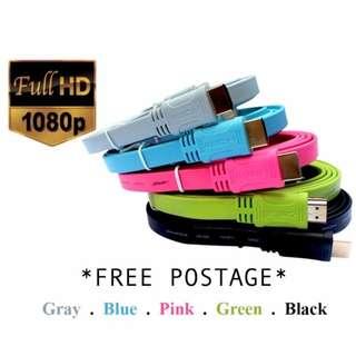 [Brand New: Instock] HDMI Cable 1.5 metre - Multicolors