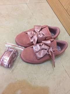Puma粉紅猄皮波鞋
