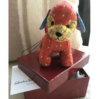 "Salvatore Ferragamo  ""Puppy"" bag charm  *Made in Italy"