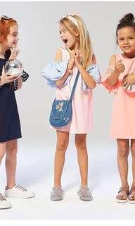 Cotton On Kids ruffle sleeve dress
