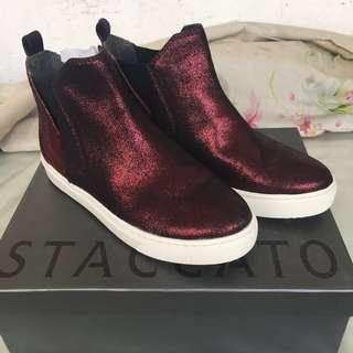 STACCATO Red Burgundy Sneaker Chelsea Slip-On