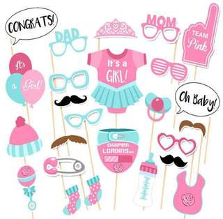Baby Shower Party photo booth Props