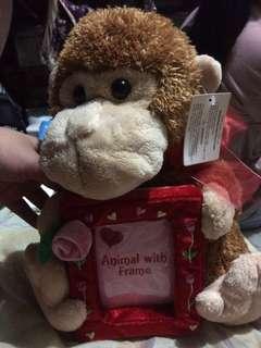 Monkey with frame stuff toys (Rush)