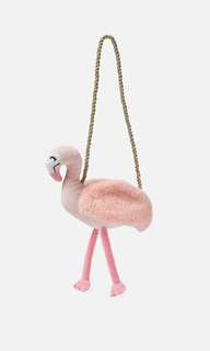 Cotton On kids flamingo plush bag