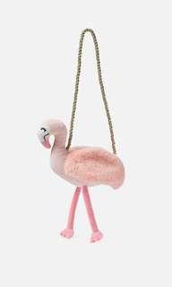 Cotton On kids flamingo plush bag
