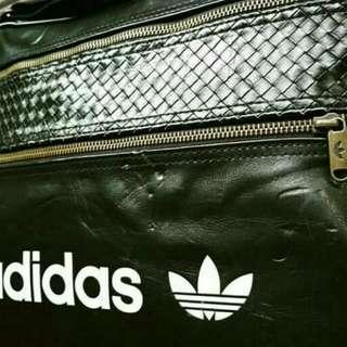Adidas Leather Slingbag Black