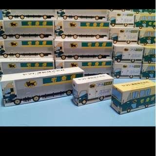 全新 日本 黑貓 宅急便 運輸株式會社 合金貨車 一套三架 非賣品 非 TOMY TOMICA (多套)