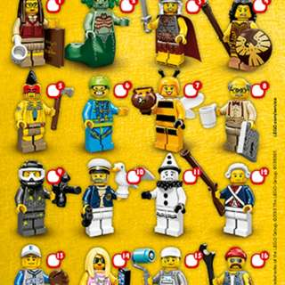 Lego人仔  一百蚊三隻任揀 全新 已開袋確認 連袋紙