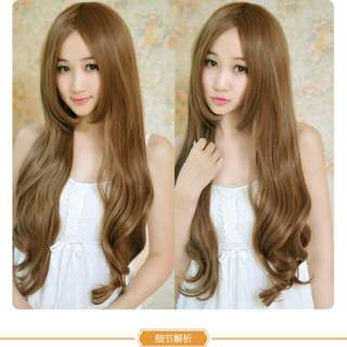 PO Centre parting wavy ladies wig *waiting time 13 days after payment is made *Pm to order