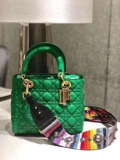 DIOR LADY 綠色手袋💕