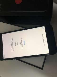 IPhone 7 128GB JETBLACK 100%new 全新未激活 可查圖中imei
