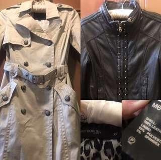 日本牌子 日系 Bauhaus 皮褸乾濕褸 連身裙 短褲短裙 $500/8件