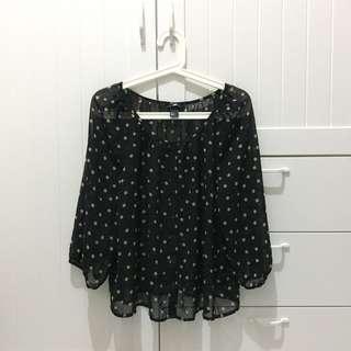 #MUSTGO hnm H&M blouse polka