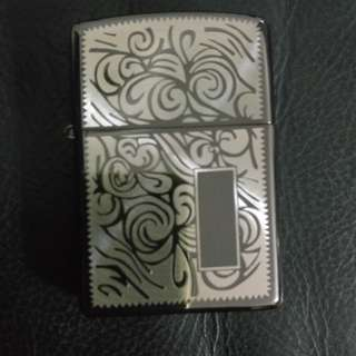 Floral style zippo typed lighter