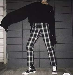 Checkered Print Pants