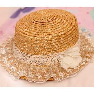 Floral Lace Straw Hat