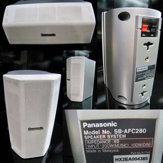 BRAND NEW PANASONIC 200 WATTS 8 OHMS FULL RANGE SATELLITE DESKTOP / WALL-MOUNT SPEAKER @WAREHOUSE BEST DEAL $25 (1 UNIT)