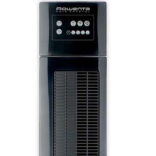 Rowenta VU6520 Eole Crystal Tall Tower Standing Fan in Black 80% NEW