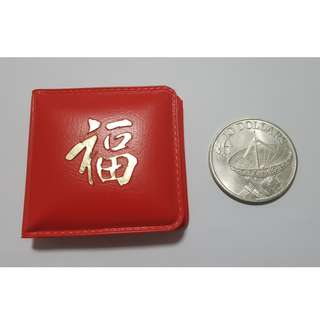 Singapore Satellite Image 1979 Ten Dollars Coin in Red Blessing Cover