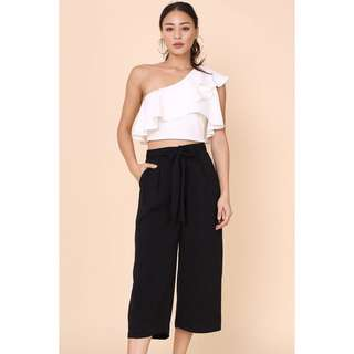 BNIP Supergurl Sasha Culottes with Removable Sash in BLACK (Size XS, UK 4-Small 6)