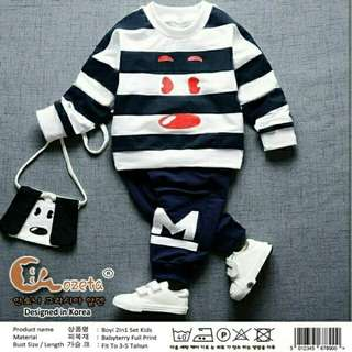 Sweater 1 set anak laki laki usia 3-5 th