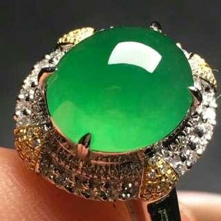 Jade ring 18K