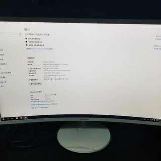 SAMSUNG 32型 VA 曲面寬螢幕 32吋曲mon 32
