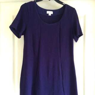 Witchery Dark Blue Tshirt Dress - Size S
