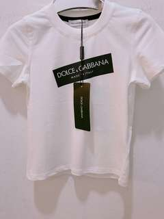 🆕👦🏻👧🏻SALE🎉🛍 Authentic DOLCE & GABBANA Tee for 2, 4 & 6 years old