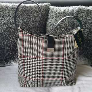 Authentic Ralph Lauren Houndstooth Snap Closure Blk/Red