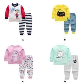 Baby cotton long sleeved pyjamas