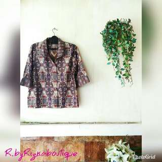 ❤OFFICE HOUR❤ Batik Blouse/Blazer