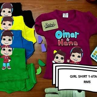 T Shirt omar & hana #bajet20