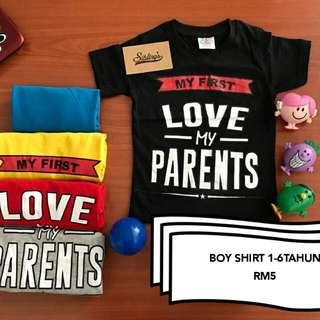 T-shirt love parent #bajet20