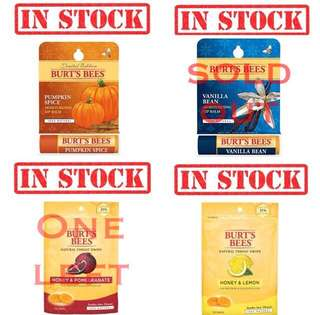 IN STOCK Burt's Bees Lip Balm Mama Belly Kissable throat candy   From $6