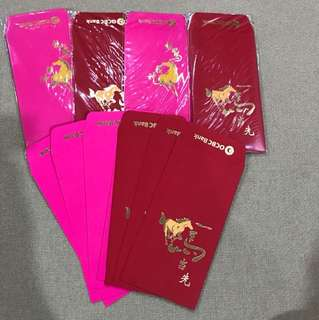 4 Packs + 7 Pieces Of Ocbc Red Packet