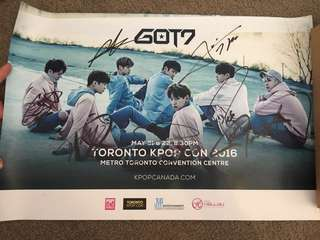 GOT7 All Member Signed *Limited 200* Toronto KPOP CON Poster