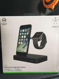 iPhone + Apple Watch充電座(全金屬太空灰款式)