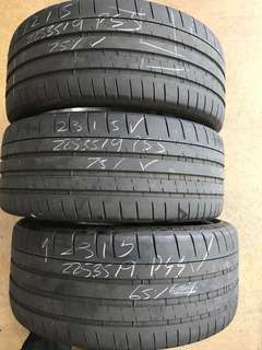 225/35/19 michelin super sport used tyre $90pc