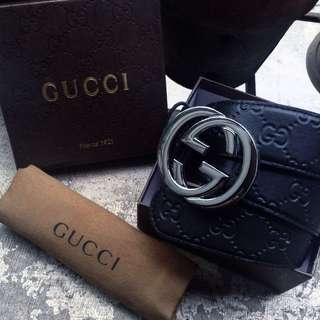 Gucci mono belt with embossing