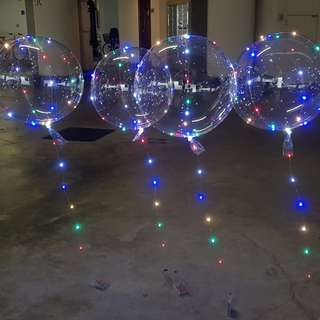 Bubble LED balloons Helium filled!