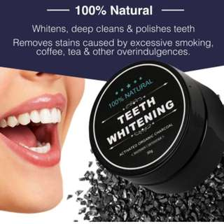 100% natural tooth whitening natural bamboo activated charcoal powder