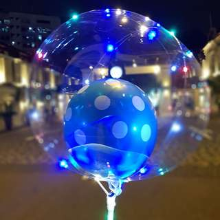 LED Bubble balloon with Pokka dot balloon