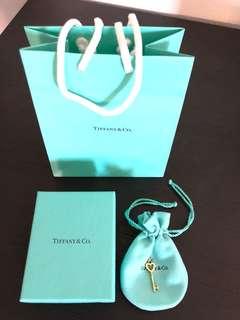 Tiffany & Co 18YG heart key charm