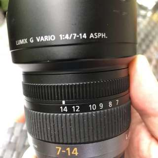 (Price Drop) Panasonic Lumix 7-14mm f4 wideangle (m4/3)