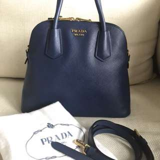 Prada Saffiano Satchel Shoulder Bag